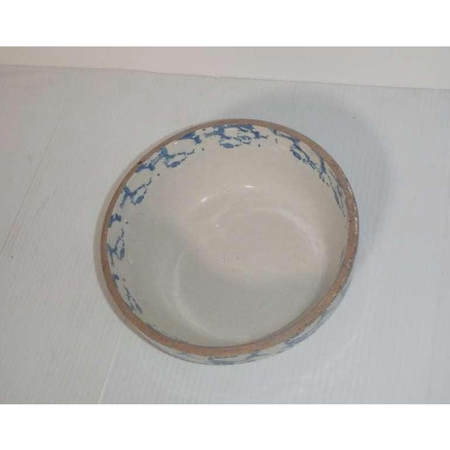 Ceramic 19th Century Blue and White Sponge Ware Pottery Bowl For Sale - Image 7 of 7