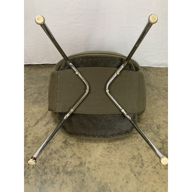 Metal Executive Arm Chair Attributed to Eero Saarinen for Knoll For Sale - Image 7 of 11