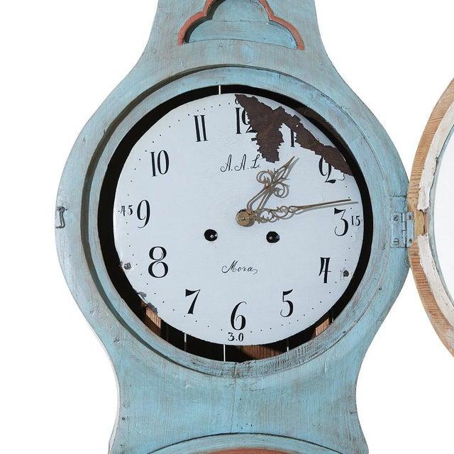 Mid 19th Century Antique Swedish Mora Clock For Sale - Image 5 of 6