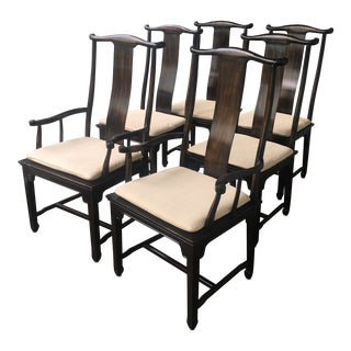 Drexel Ming Chinoiserie Dining Chairs - Set of 6 For Sale