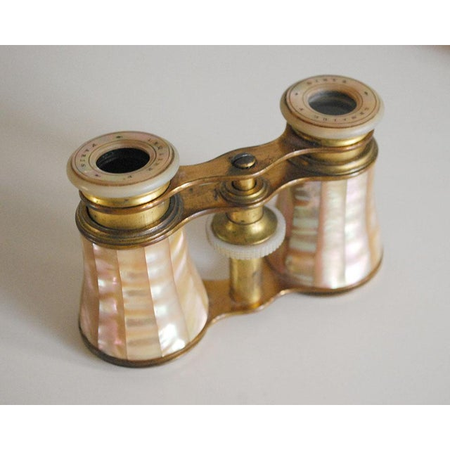 Belle Epoque Antique French Mother of Pearl Opera Glasses For Sale - Image 3 of 7