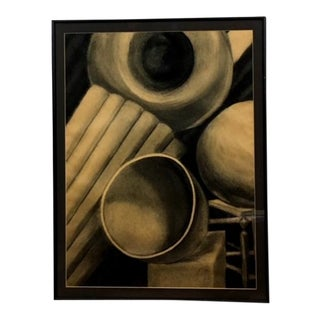 1980s Still Life Pencil Drawing For Sale