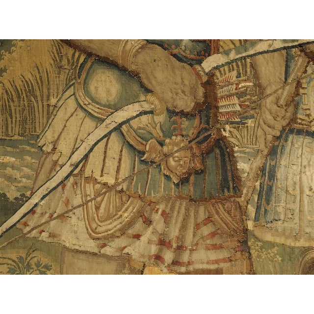 Large 17th Century Flanders Tapestry Depicting a Roman Scene For Sale - Image 11 of 13