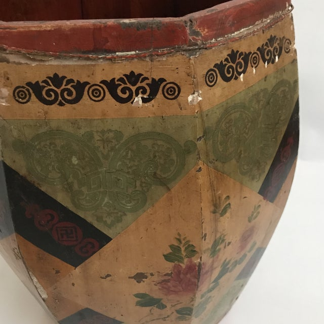 Chinese Octagonal Barrel & Lid For Sale - Image 9 of 11