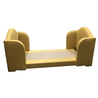 Custom Gold Upholstered Twin Bed For Sale