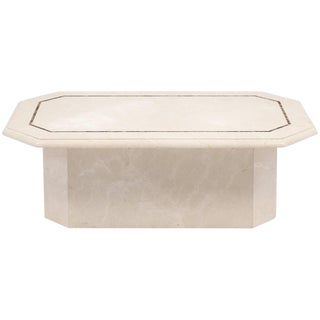 Vintage French Travertine Coffee Table