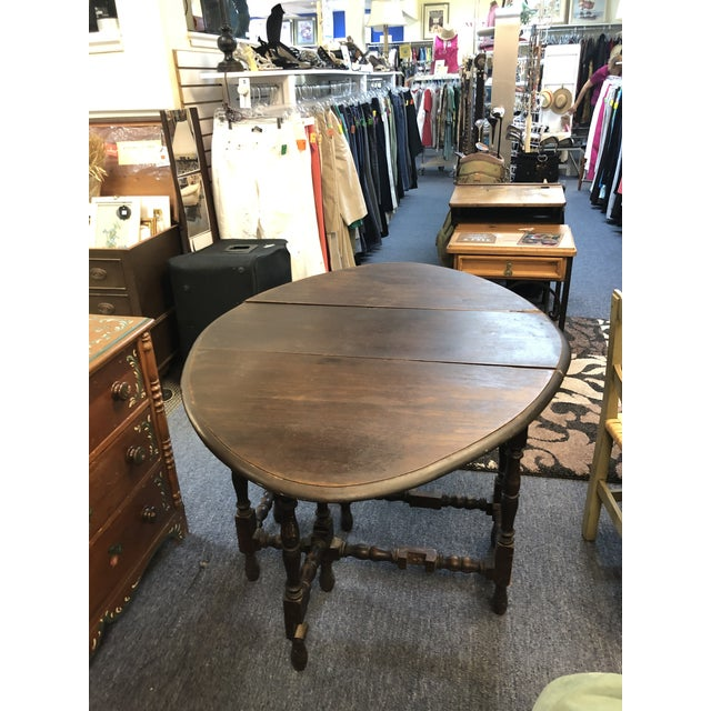 17th Century Antique Jacobean Drop Leaf Table For Sale - Image 4 of 12