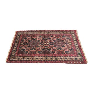 Handmade Geometric Pattern Rug - 3′5″ × 6′5″ For Sale