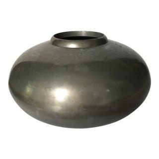 Solid Pewter Modernist Vase