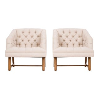 Pair of Harvey Probber Tufted Lounge Chairs