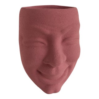 Comedy Tragedy Theater Mask Face Vase For Sale