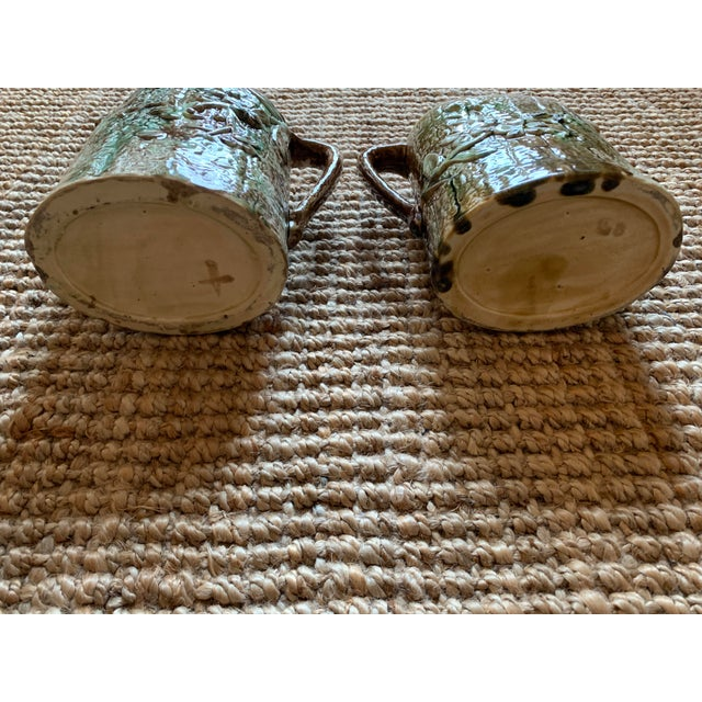 Antique English Majolica Pitchers- A Pair For Sale - Image 9 of 12