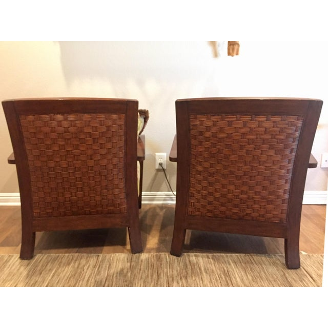 Contemporary Ethan Allen Jamaica Arm Chairs - a Pair For Sale - Image 3 of 11