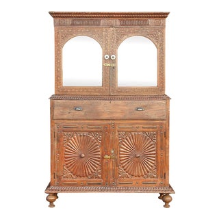 Stunning Anglo Indian Secretary Cabinet For Sale