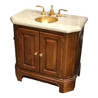Sherle Wagner Petite Vanity With Sink For Sale