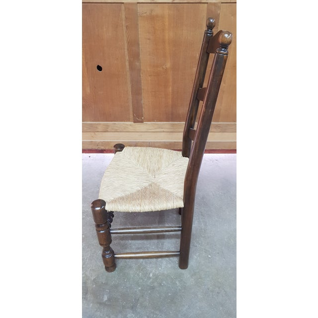 Set of four provencal dining chair with hay seat. Reasonable offers will be accepted.