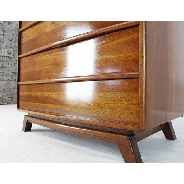 Six Drawers Solid Cherry Mid-Century Modern Design High Chest For Sale - Image 10 of 13