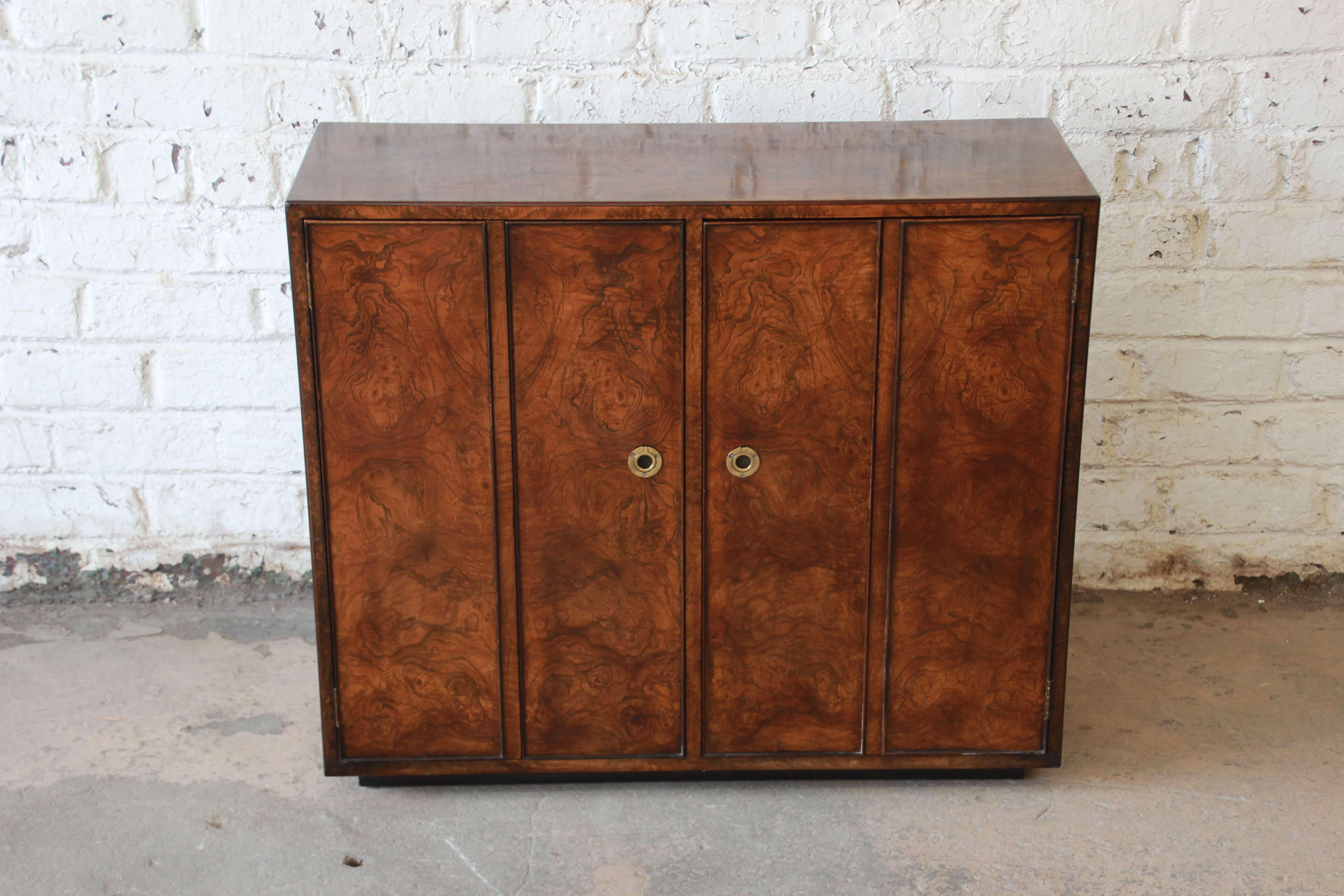 Vintage Burl Wood Bar Cabinet By John Widdicomb   Image 3 Of 9
