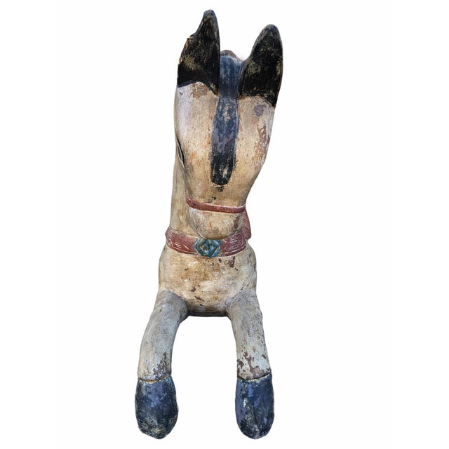 Antique Indian / Rajasthani Hand Carved Wooden Horse For Sale - Image 4 of 13