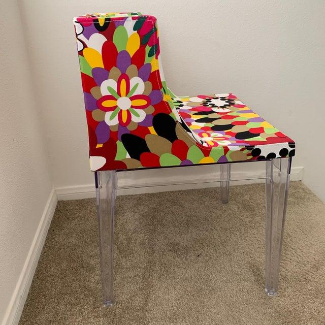 Acrylic Kartell Phillipe Starck Missoni Mademoiselle Replica Chair For Sale - Image 7 of 9