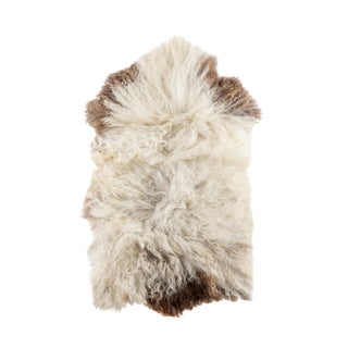 "Contemporary Hand-Tanned Sheepskin Pelt - 2'0""x3'6"""