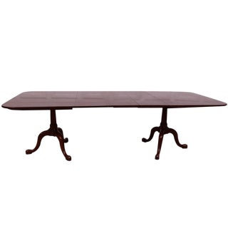 Henkel Harris Solid Mahogany Dining Table With Three Leaves For Sale