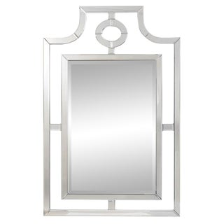 Pagoda Style Bosworth Glass Frame Mirror For Sale