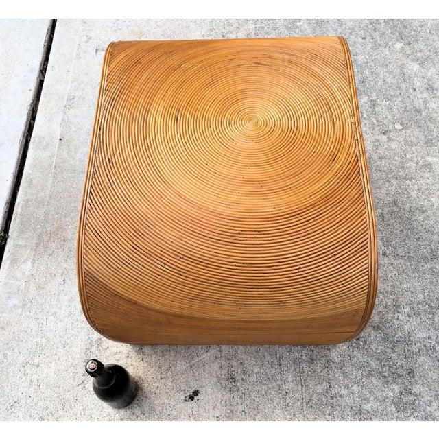 1970s Vintage Split Reed Side Table For Sale - Image 5 of 6