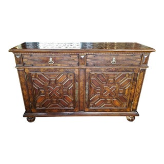 Theodore Alexander Elizabethan Jewel Side Cabinet For Sale