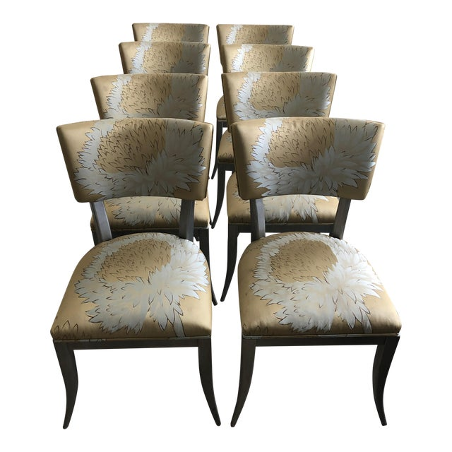 Custom Klismos Dining Chairs - Set of 8 For Sale