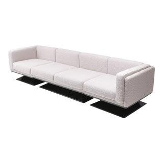 Mim Roma Sectional Sofa in Bouclé Wool by Luigi Pellegrin For Sale