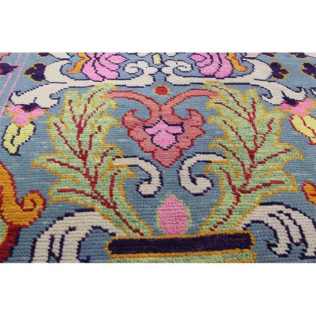 Textile 1990s Vintage Handwoven Area Rug- 6′8″ × 9′7″ For Sale - Image 7 of 11
