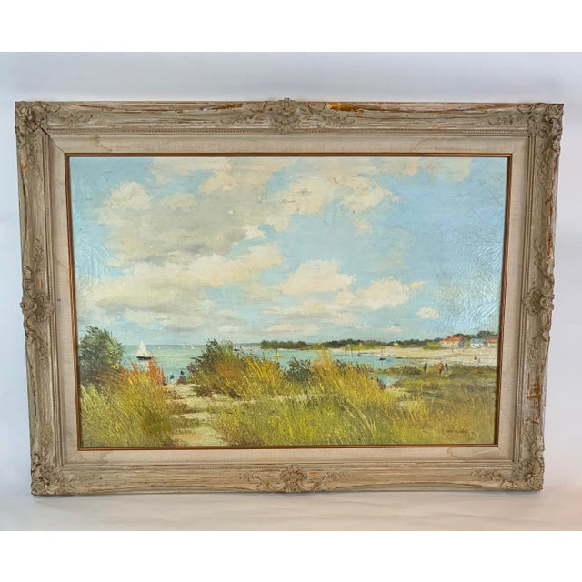 French Seascape Painting by Lois Clark, Framed For Sale - Image 13 of 13