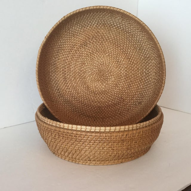 Woven Basket & Lid For Sale In Birmingham - Image 6 of 11