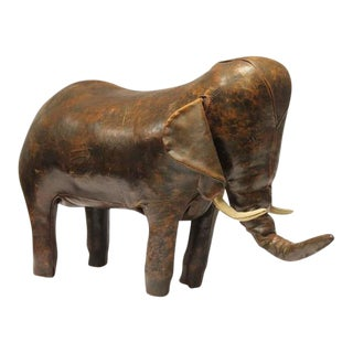 Vintage Dimitri Omersa for Abercrombie & Fitch Leather Elephant For Sale