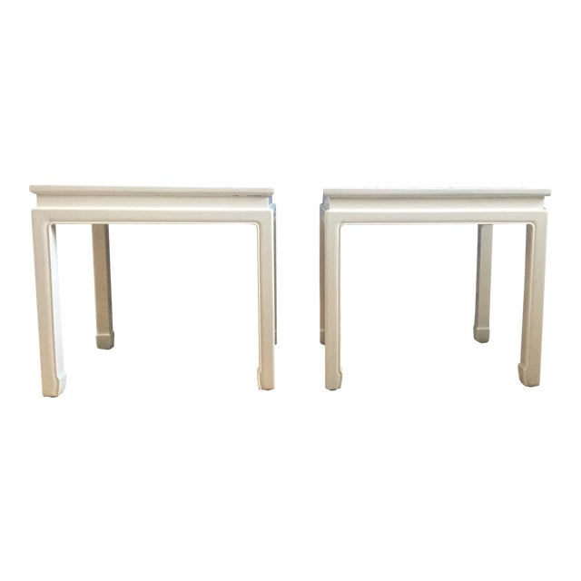 """Chinoiserie """"Ming"""" Style Pair of Side Tables For Sale"""