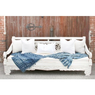 White Hand Rubbed Carved Dee Opium Teak Daybed Preview