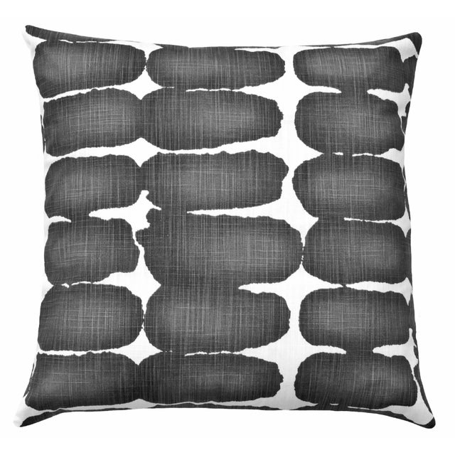 Mid-Century Modern Ink Shibori Mid-Century Modern Accent Pillow For Sale - Image 3 of 3