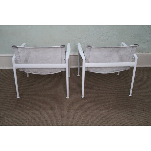 Knoll Schultz Knoll Aluminum Mesh Lounge Chairs - Pair For Sale - Image 4 of 10