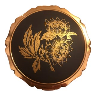 Wedgwood Black Basalt Gold Stratton Compact
