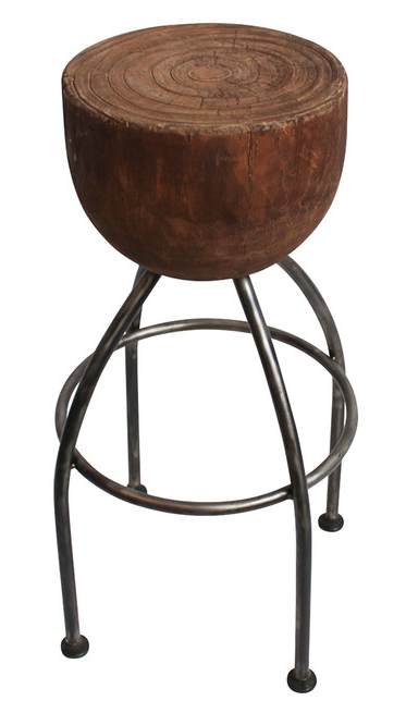 Round Stump Bar Stool Chairish