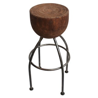 Round Stump Bar Stool For Sale