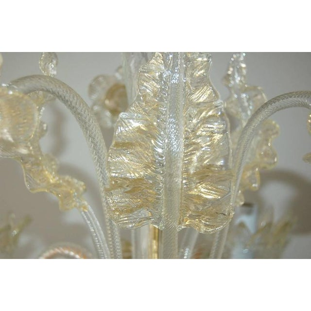 Murano Vintage Murano Glass Champagne Gold Chandelier For Sale - Image 4 of 11