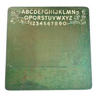 Classroom Abc Chalkboard, Vintage Children For Sale