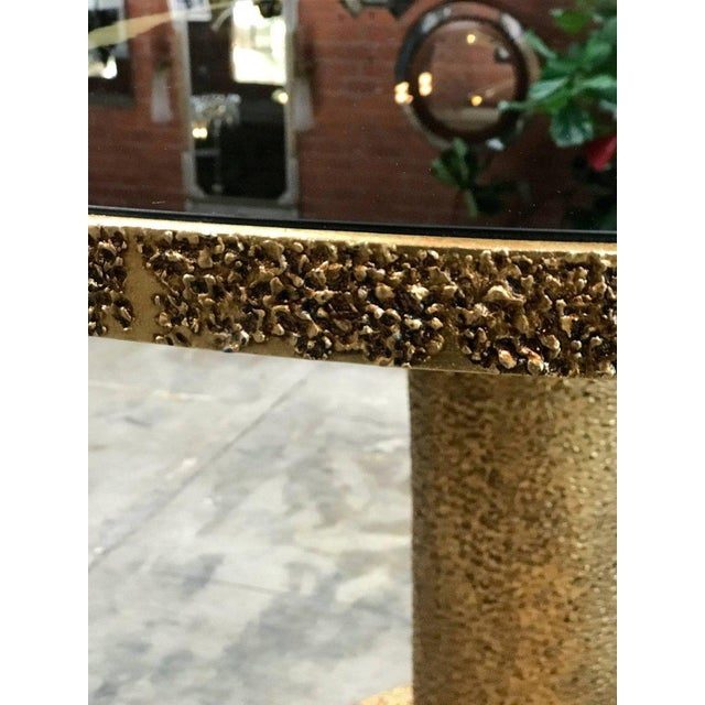 Italian Round Brass and Glass Dining Table, Italy For Sale - Image 3 of 8