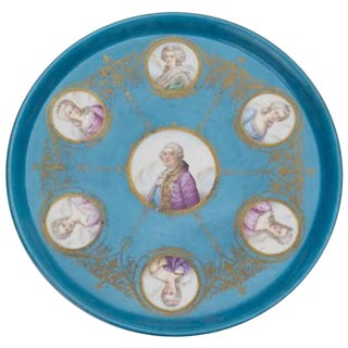 19th Century Early American Sevres Style Portrait Medallion Charger For Sale
