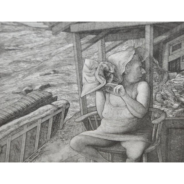 David Becker Pencil Signed Etching C.1970s For Sale In San Francisco - Image 6 of 11