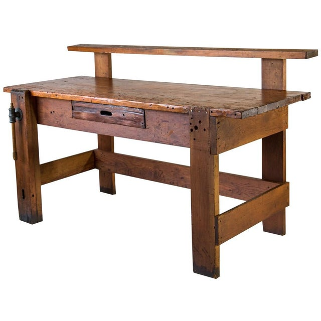 Rustic Carpenter's Workbench Sideboard For Sale - Image 12 of 13