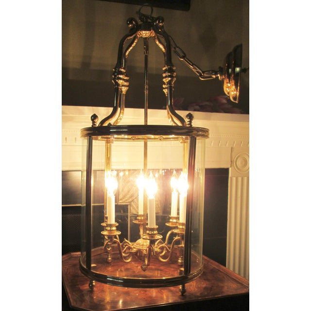Islamic Louis XVI Style Solid Brass Lantern Chandelier For Sale - Image 3 of 7