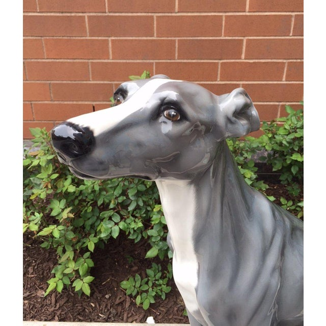 Italian Ceramic Dog Sculpture For Sale - Image 4 of 6